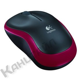 Мышь компьютерная Logitech Wireless Mouse M185 Red USB (910-002240)