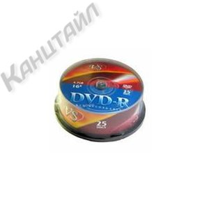Диск DVD-R VS 4, 7GB 16x Cake/25